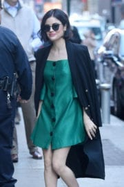 Lucy Hale Stills at Good Morning America in New York Photos