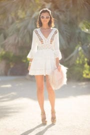 Lucy Mecklenburgh at Rachel Zoeasis in Coachella Valley Music and Arts Festival