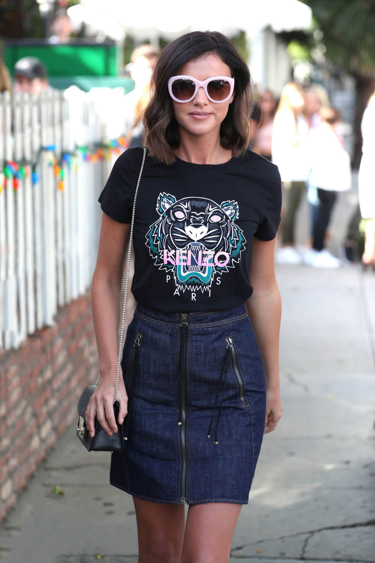 Lucy Mecklenburgh Stills Leaves The Ivy in West Hollywood