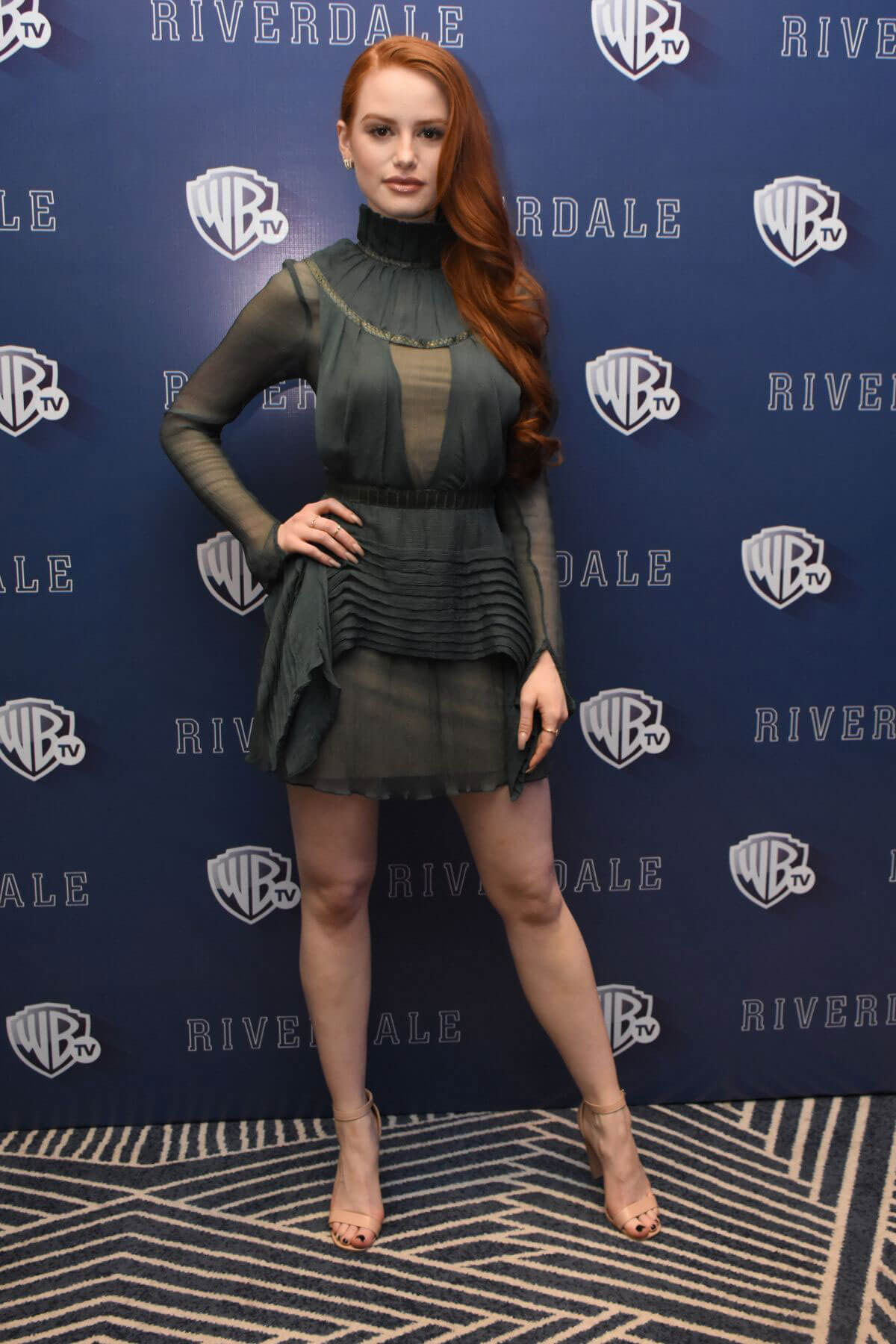 Madelaine Petsch Stills at Riverdale' TV Series Photocall in Mexico City