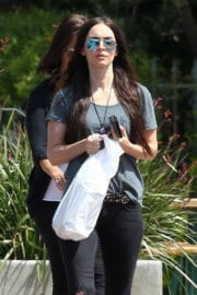 Megan Fox Stills in Ripped Jeans Out Shopping in Malibu