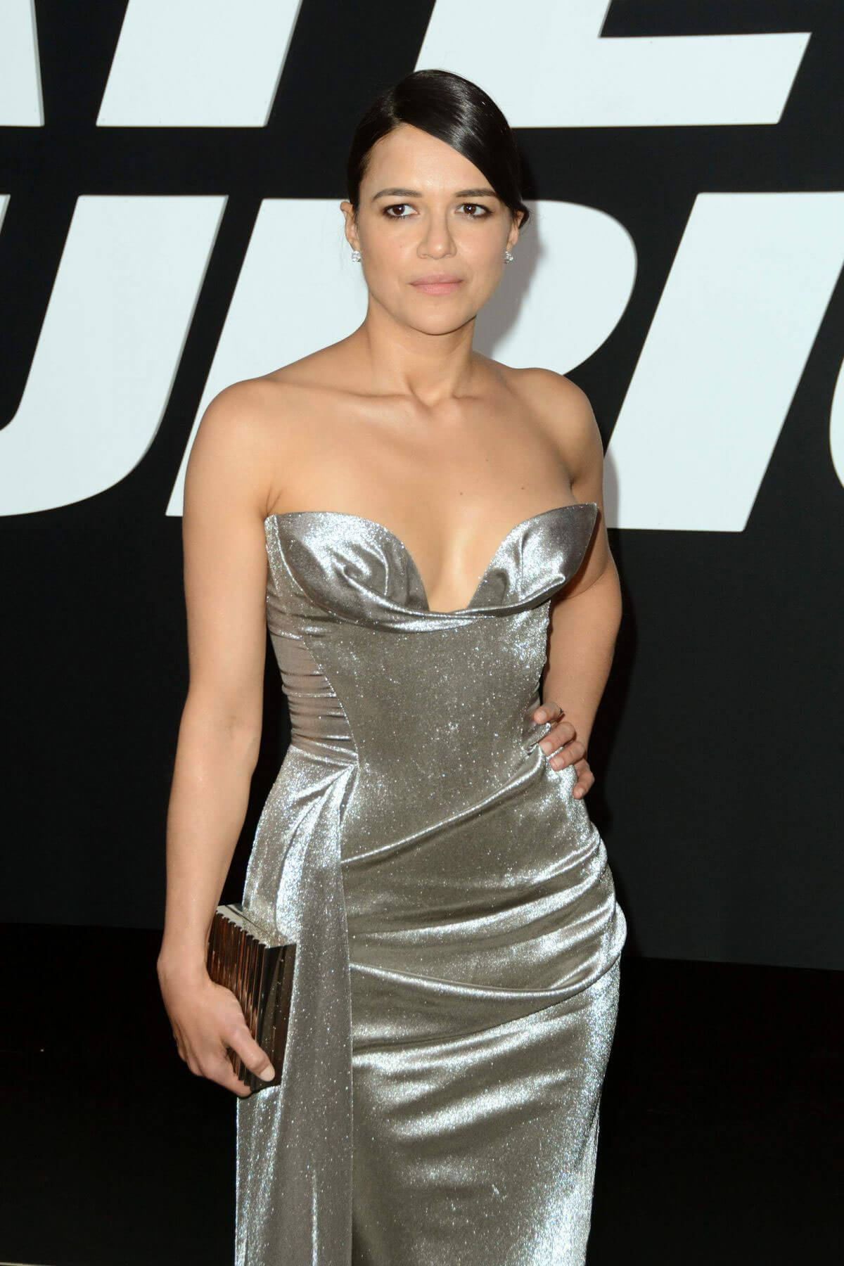 Michelle Rodriguez Stills at The Fate of the Furious Premiere in New York