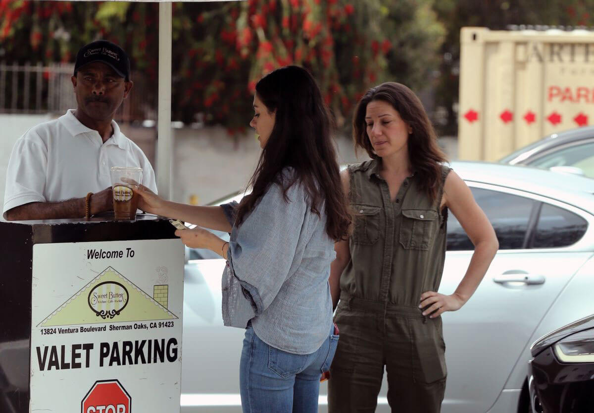 Mila Kunis Stills Out for Lunch in Studio City