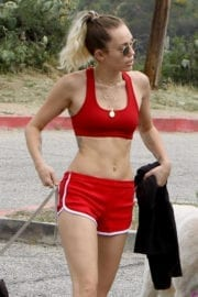 Miley Cyrus Stills in Shorts Out in Los Angeles