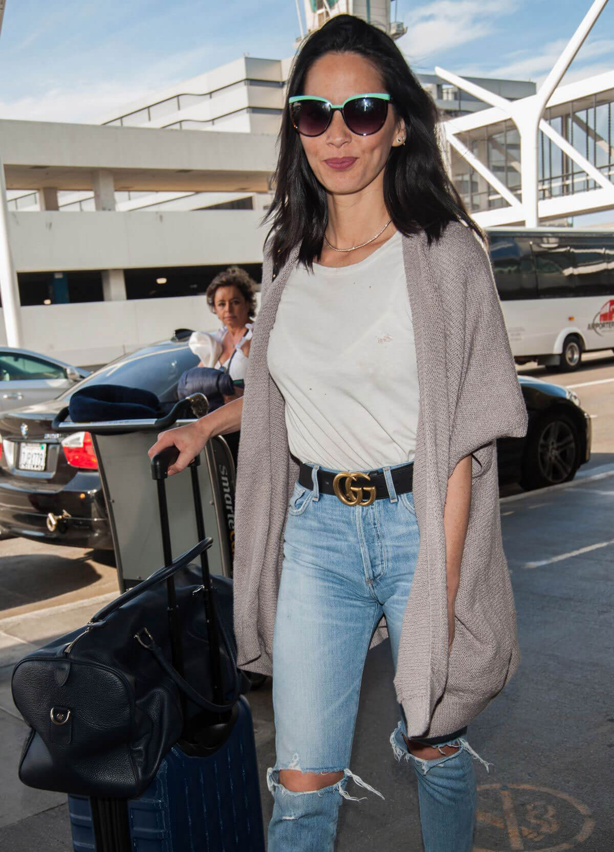 Olivia Munn Stills at Los Angeles International Airport