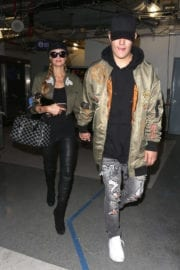 Paris Hilton and Chris Zylka Stills at LAX Airport in Los Angeles