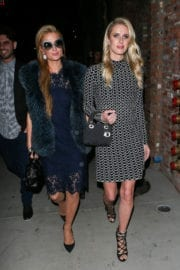 Paris Hilton and Nicky Hilton at Tao Beauty & Essex in Hollywood