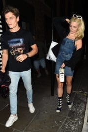 Pixie Lott and Oliver Cheshire Night Out in London