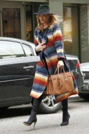 Pregnant Rosie Huntington-Whiteley Out and About in New York