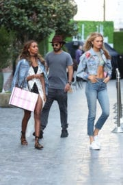 Romee Strijd and Jasmine Tookes Stills at Press Shoot for Victoria's Secret in Hollywood