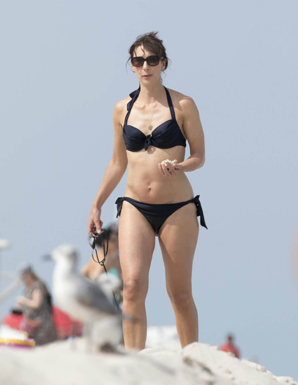 Samantha Cameron Stills in Bikini at a Beach in Miami