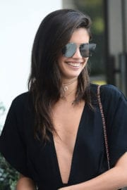 Sara Sampaio Stills Out for Lunch at Spago in Los Angeles