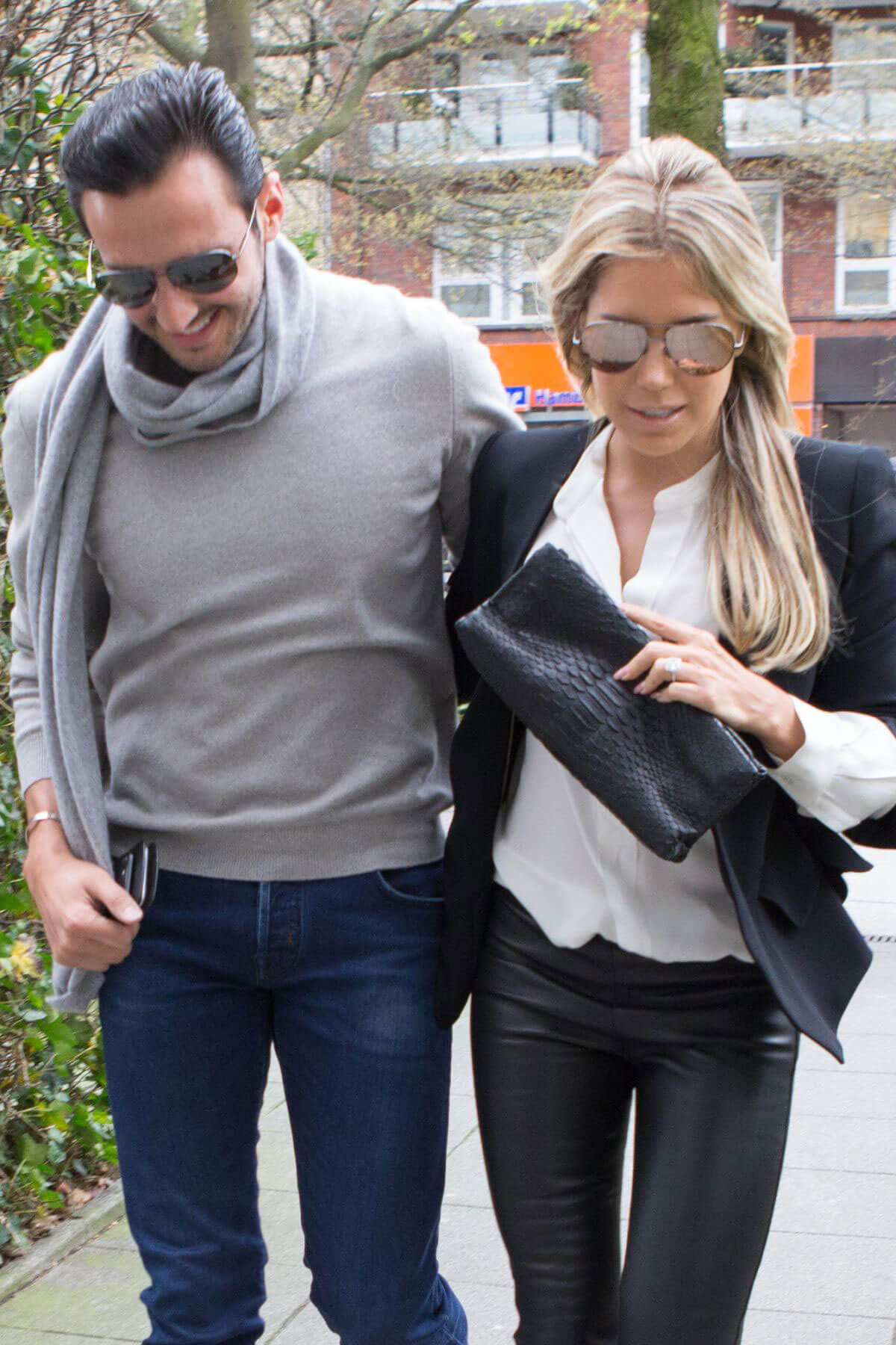 Sylvie Meis and Charbel Aouad After Engagement Night in Hamburg