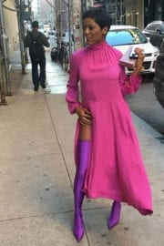 Tamron Hall Stills Out and About in New York