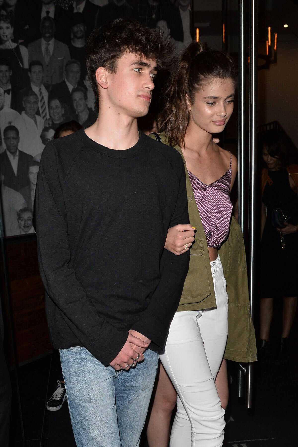 Taylor Hill Leaves Catch LA Restaurant in Los Angeles