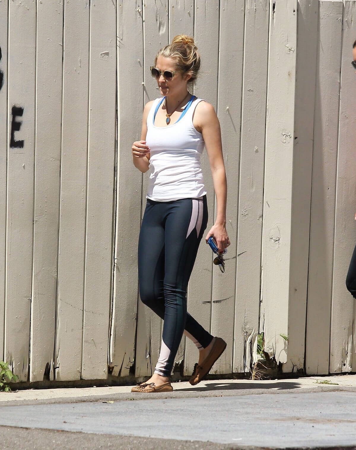 Teresa Palmer wearing in Tights Top & blue Jeans in Los Angeles