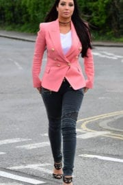 Tulisa Contostavlos Stills Out and About in London