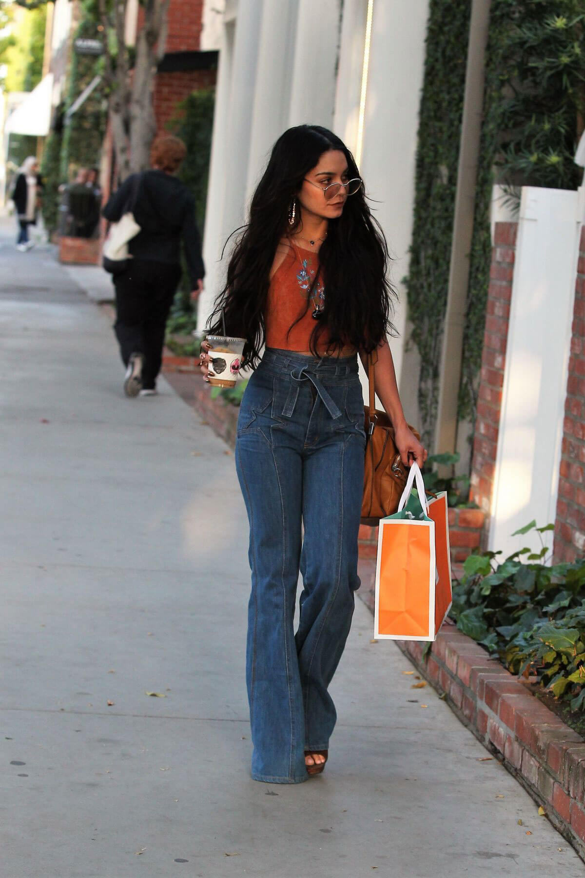 Vanessa Hudgens Stills Leaves a Skin Care Clinic in West Hollywood