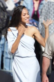 Zoe Saldana Stills at Jimmy Kimmel Live in Los Angeles