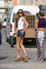 Abbey Clancy on the Set of Britain's Next Top Model in Cape Verde