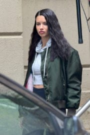 Adriana Lima Leaves a Gym in New York