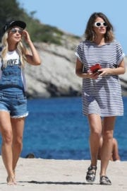 Amanda Clapham and Sophie Porley Out and About in Ibiza
