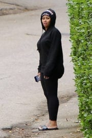 Blac Chyna Out at Canyon Trek in Reseda