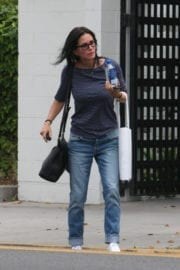 Courteney Cox Out Shopping at Express in Beverly Hills