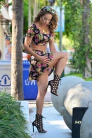 Jennifer Nicole Lee Stills Out and About in Miami
