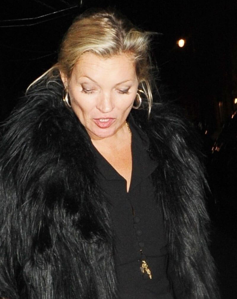 Kate Moss Stills Leaves Scott's Restaurant in London