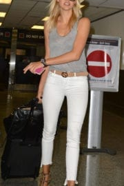 Kelly Rohrbach at Miami International Airport