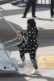 Kylie Jenner Boarding at a Private Jet in Cusco