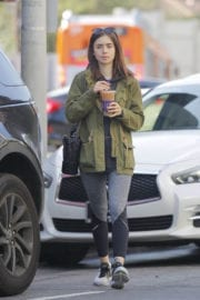 Lily Collins Leaves a Coffee Bean in Los Angeles