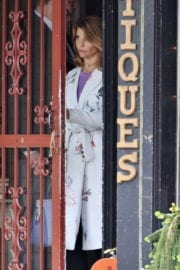 Lori Loughlin on the Set of Garage Sale Mystery in Vancouver