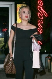 Lucy Fallon Leaves Menagerie Restaurant and Bar in Manchester