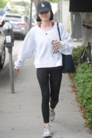 LUCY HALE Heading to a Gym in Los Angeles