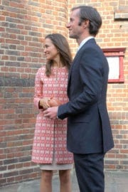 Pippa Middleton Leaves Church Service in London
