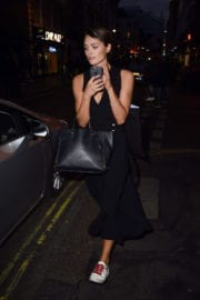 Wallis Day Leaves Oliver Proudlocks Party in London