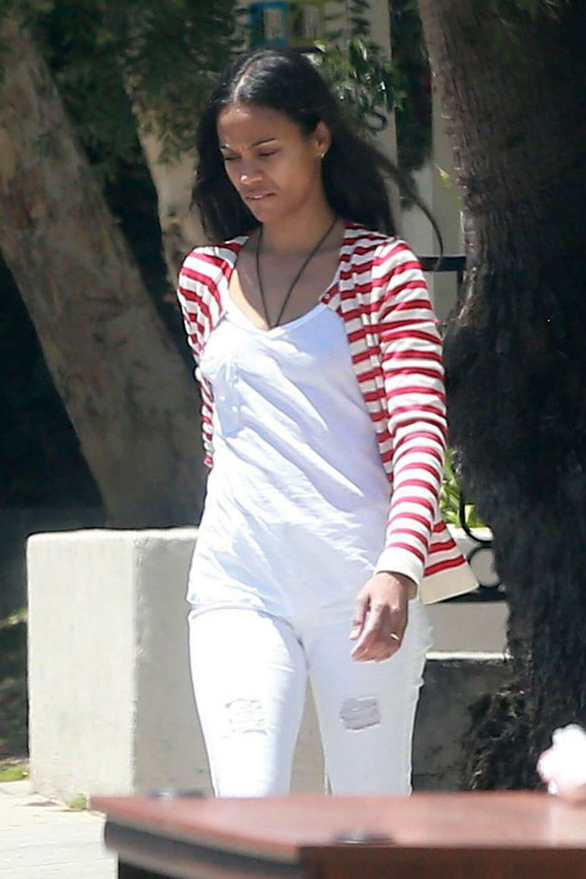 Zoe Saldana Out and About in Studio City