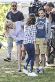 ANNA FARIS on the Set of Overboard in Vancouver