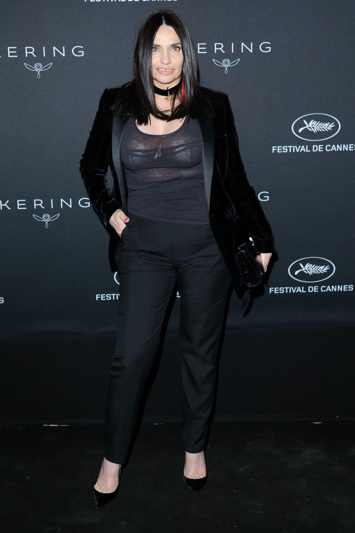 Beatrice Dalle at Women in Motion Awards Dinner at 2017 Cannes Film Festival