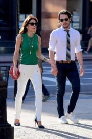 BETHENNY FRANKEL on the Set of Her Upcoming Reality Show in New York