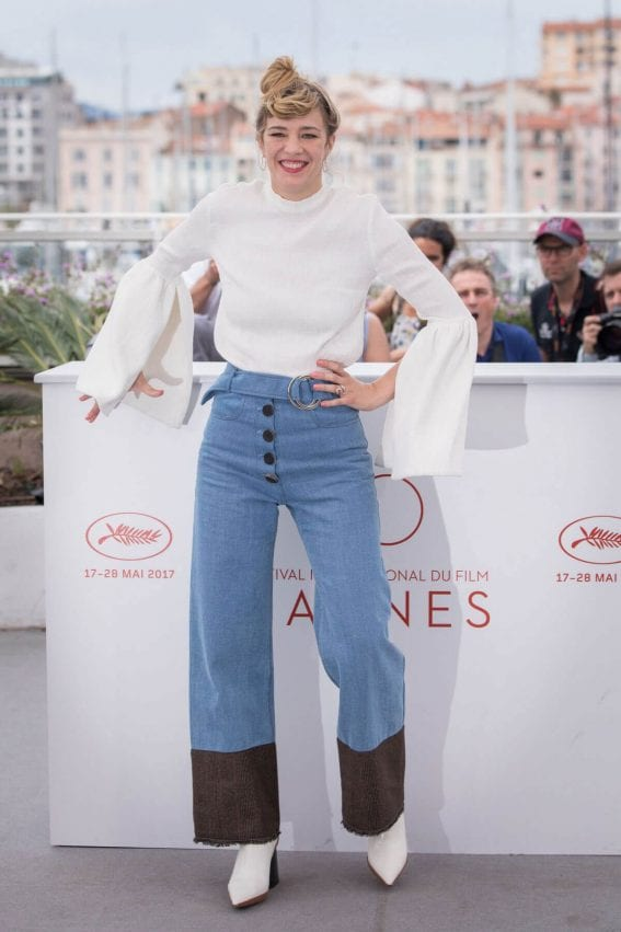 Celine Sallette at Golden Years Premiere at 70th Annual Cannes Film Festival