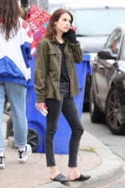 EMMA ROBERTS on the Set of Little Italy in Toronto