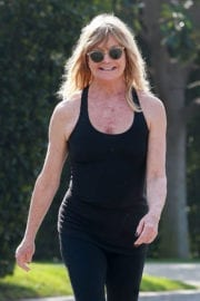 Goldie Hawn Out Jogging in Brentwood