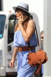 Helena Christensen Out and About in New York