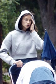 IRINA SHAYK Out with Her Baby in Los Angeles