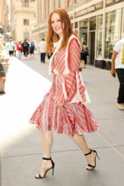 Julianne Moore Leaves Empire State Building in New York