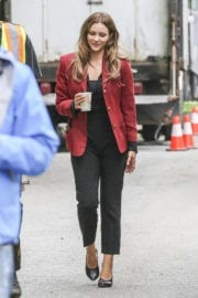 Katharine McPhee on the Set of The Lost Wife of Robert Durst in Vancouver