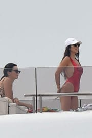 KENDALL JENNER in Swimsuit on a Yacht in Antibes
